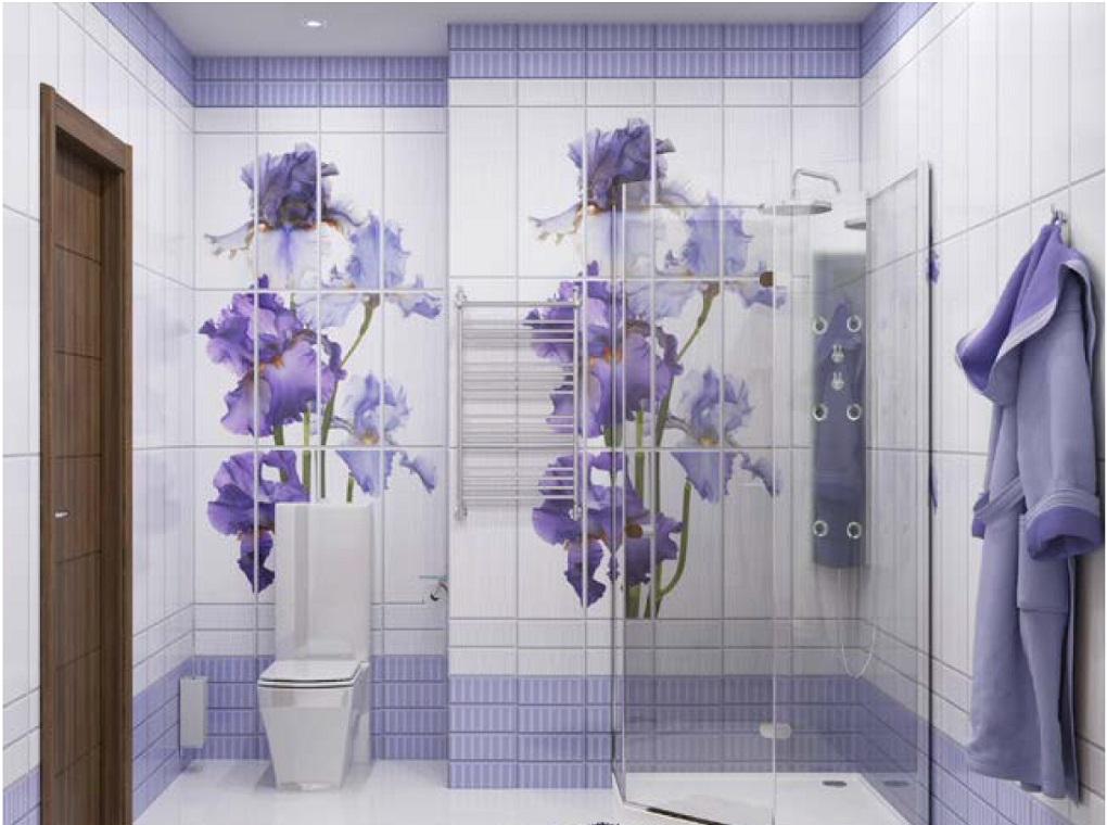 лучших панели для ванной комнаты с рисунком фото купить Индивидуальная