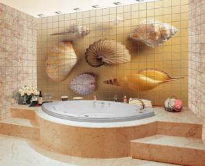 плитка в ванной фото с рисунком
